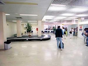 santorini airport inside