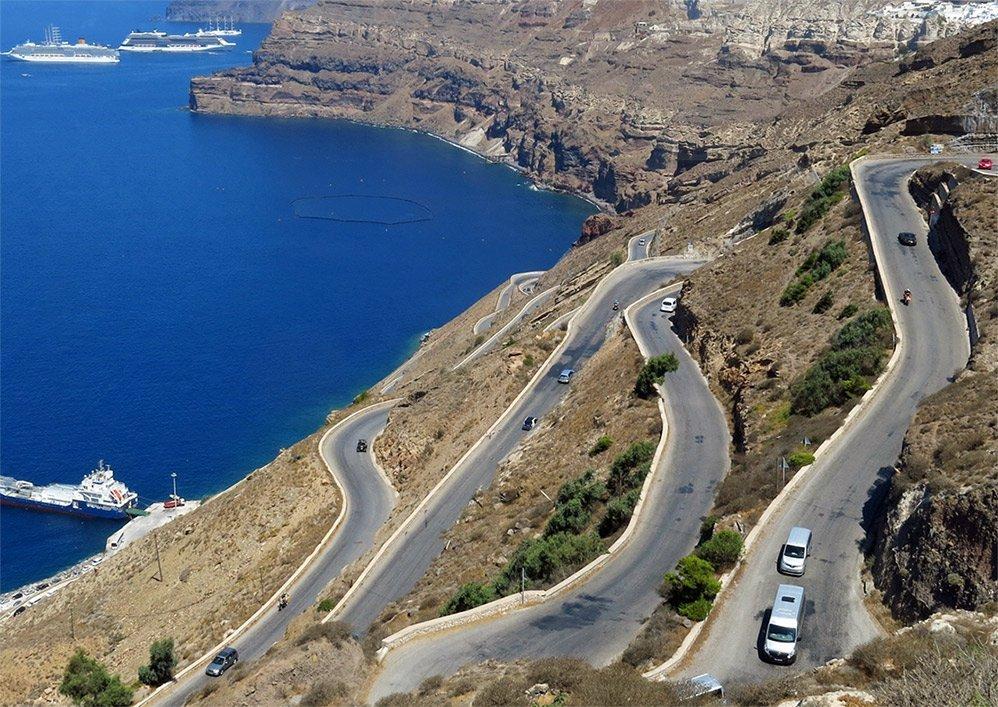 route port athinios santorini